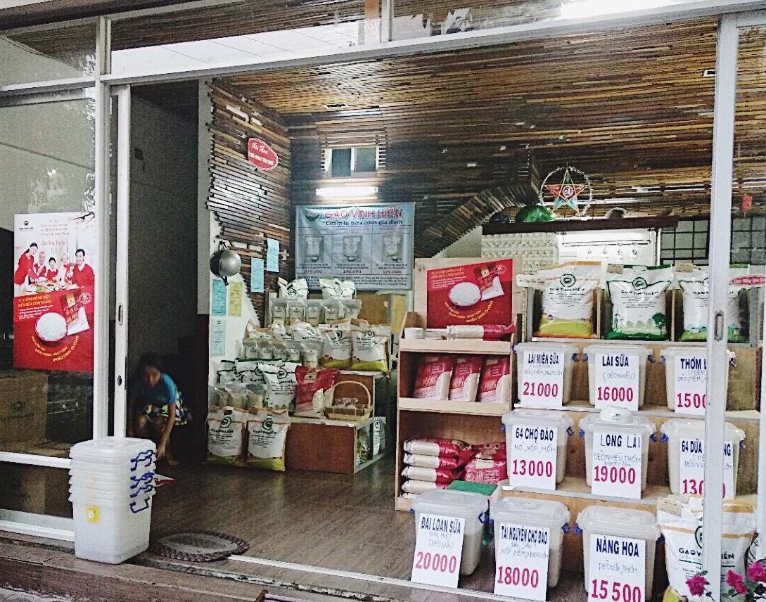 mở cửa hàng gạo