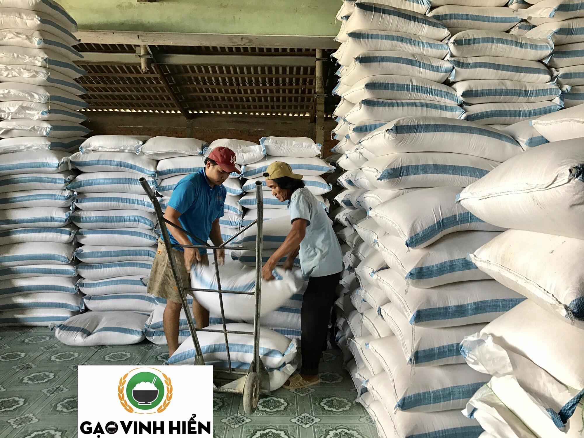 Chợ gạo miền tây đang lên hàng cho một vựa gạo tại tphcm