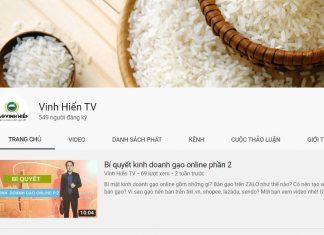 Kinh doanh gạo trên Youtube