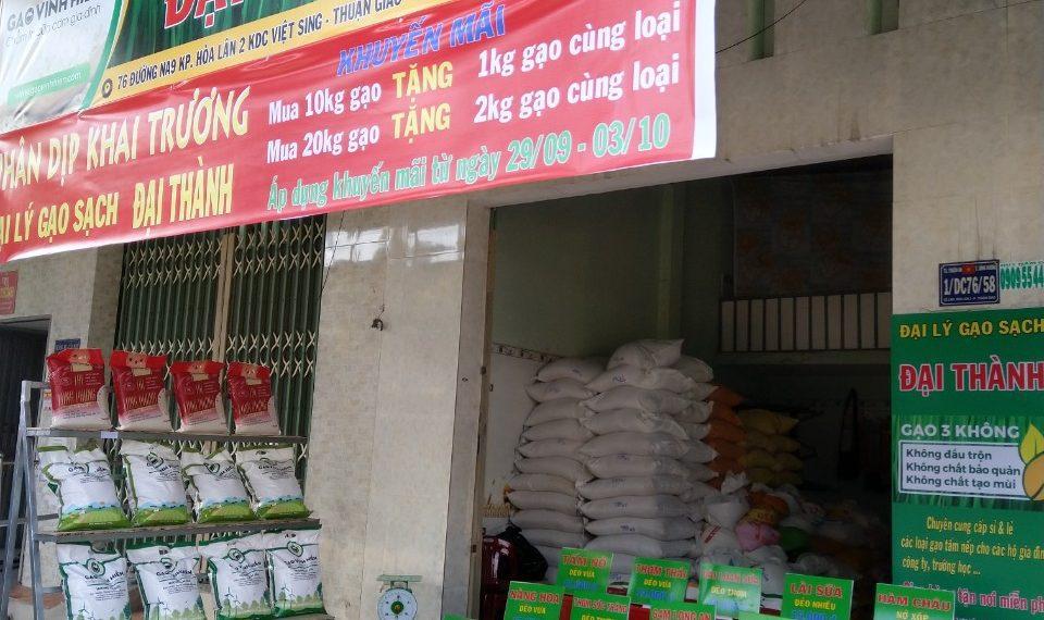 Vị trí địa lý phù hợp với đại lý gạo