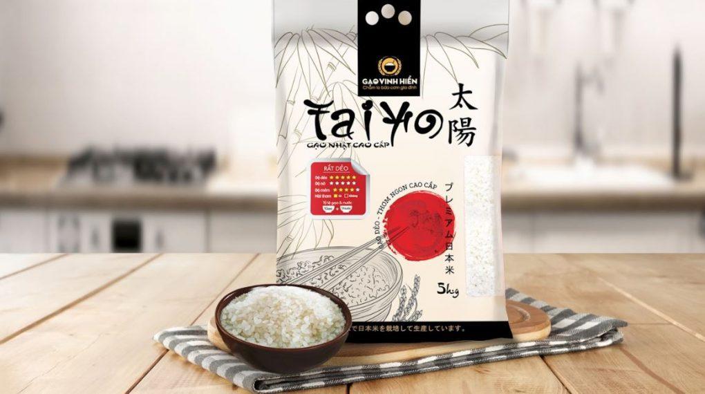 Gạo Nhật cao cấp Taiyo được sản xuất từ gạo Japonica