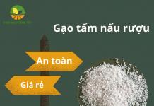 gạo tấm nấu rượu