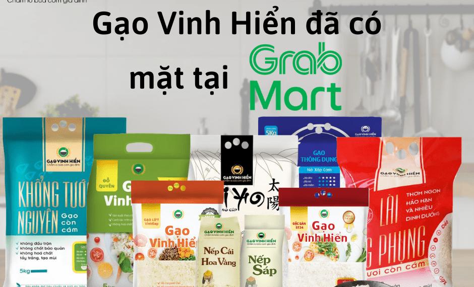 Gạo Vinh Hiển có mặt tại GrabMart